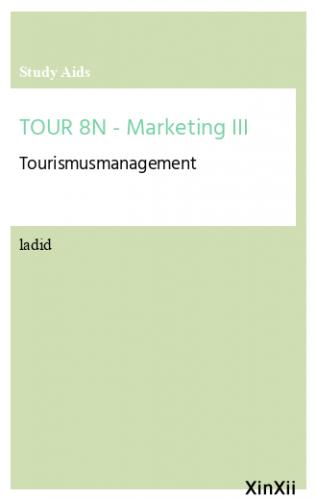 TOUR 8N - Marketing III