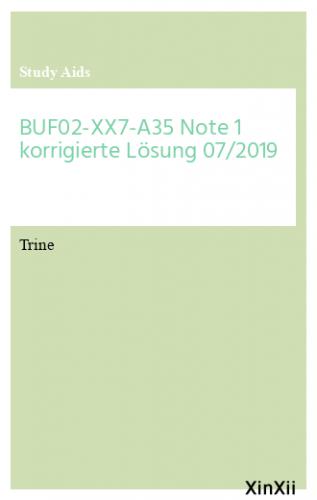 BUF02-XX7-A35 Note 1 korrigierte Lösung 07/2019