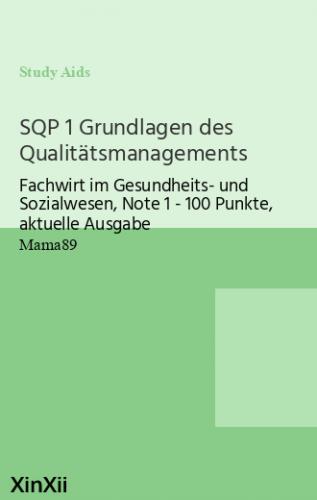 SQP 1 Grundlagen des Qualitätsmanagements