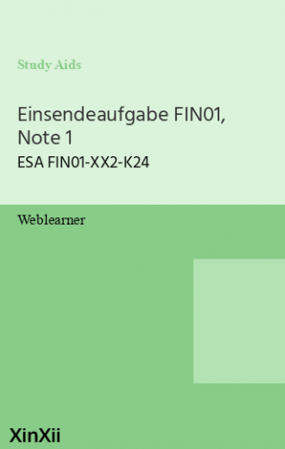 Einsendeaufgabe FIN01, Note 1