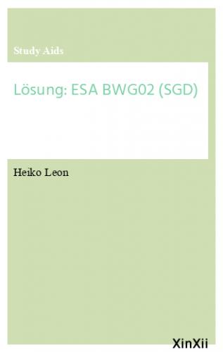 Lösung: ESA BWG02 (SGD)