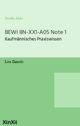 BEWI 8N-XX1-A05 Note 1