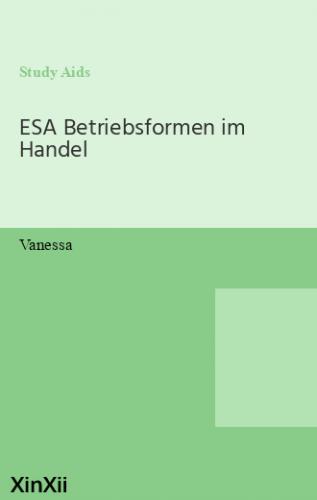 ESA Betriebsformen im Handel