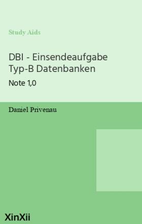 DBI - Einsendeaufgabe Typ-B Datenbanken