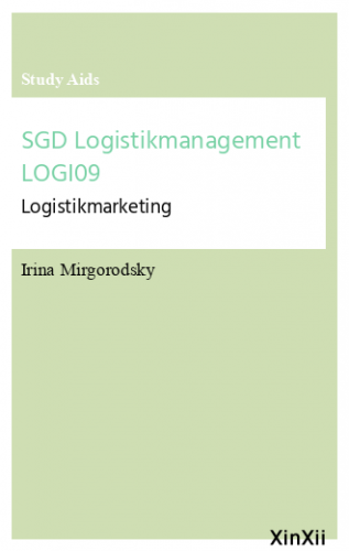 SGD Logistikmanagement LOGI09
