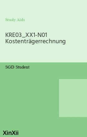 KRE03_XX1-N01 Kostenträgerrechnung