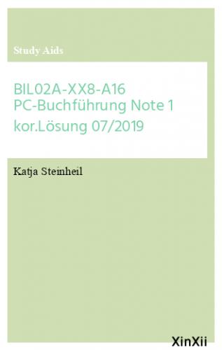 BIL02A-XX8-A16 PC-Buchführung Note 1 kor.Lösung  07/2019