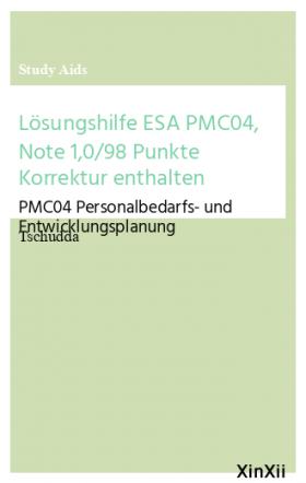 Lösungshilfe ESA PMC04, Note 1,0/98 Punkte Korrektur enthalten