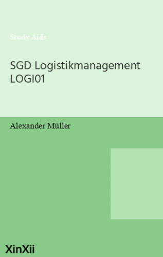 SGD Logistikmanagement LOGI01