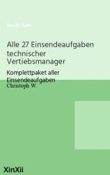 Alle 27 Einsendeaufgaben technischer Vertiebsmanager