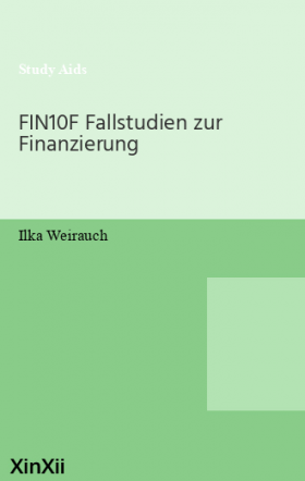 FIN10F Fallstudien zur Finanzierung