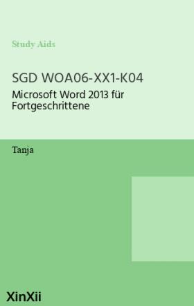 SGD WOA06-XX1-K04