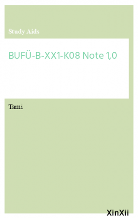 BUFÜ-B-XX1-K08 Note 1,0