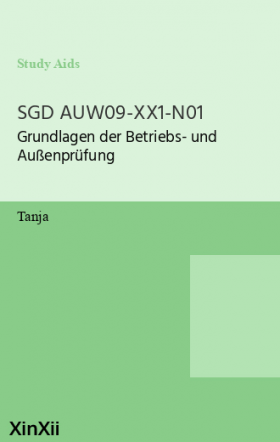 SGD AUW09-XX1-N01