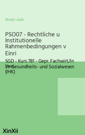 PSO07 - Rechtliche u Institutionelle Rahmenbedingungen v Einri