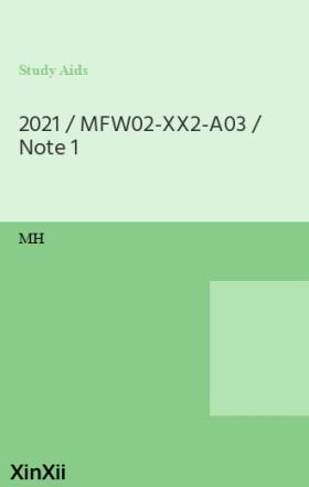 2021 / MFW02-XX2-A03 / Note 1