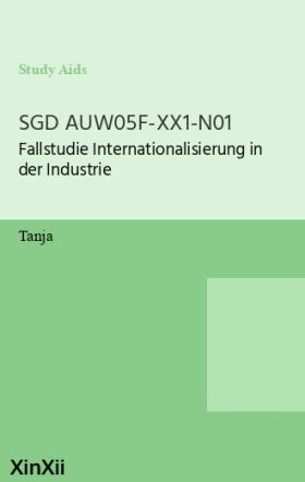 SGD AUW05F-XX1-N01