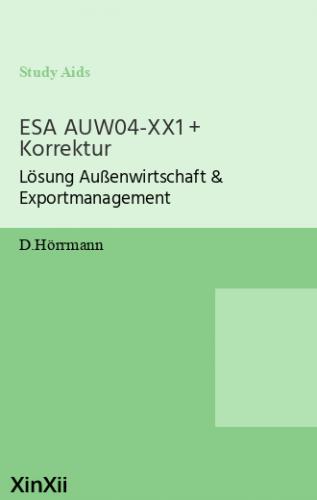 ESA AUW04-XX1 + Korrektur