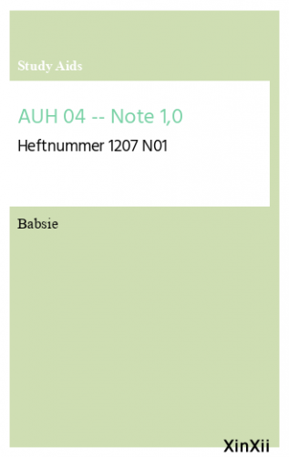 AUH 04 -- Note 1,0