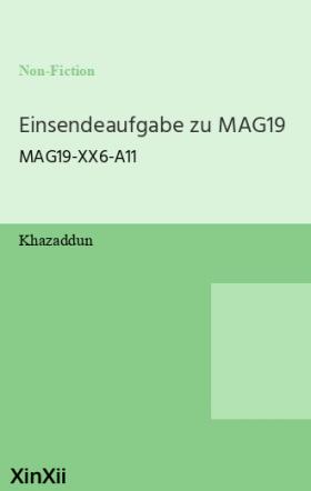 Einsendeaufgabe zu MAG19