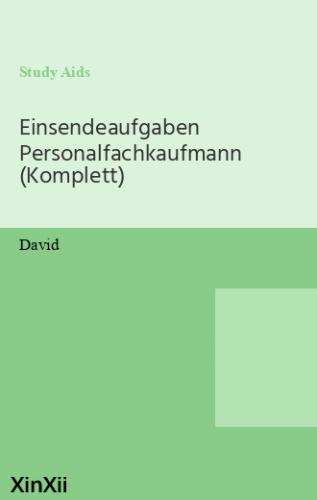 Einsendeaufgaben Personalfachkaufmann (Komplett)