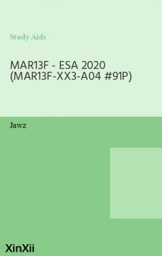 MAR13F - ESA 2020 (MAR13F-XX3-A04 #91P)