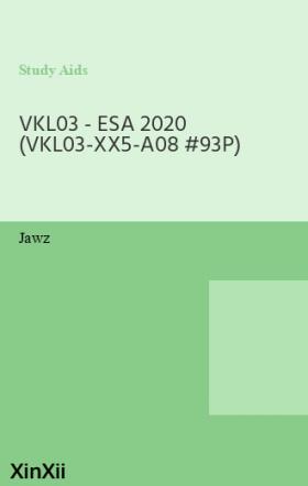 VKL03 - ESA 2020 (VKL03-XX5-A08 #93P)
