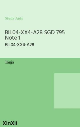 BIL04-XX4-A28 SGD 795 Note 1