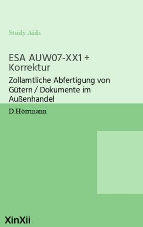 ESA AUW07-XX1 + Korrektur