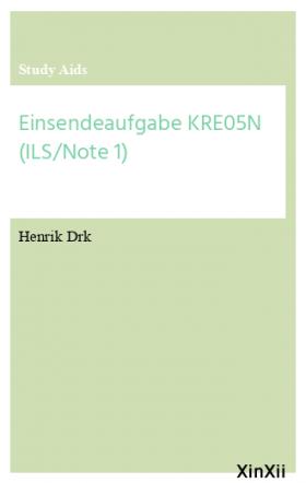Einsendeaufgabe KRE05N (ILS/Note 1)