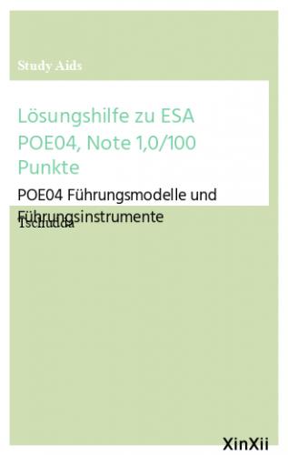 Lösungshilfe zu ESA POE04, Note 1,0/100 Punkte