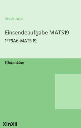 Einsendeaufgabe MATS19