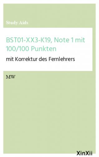 BST01-XX3-K19, Note 1 mit 100/100 Punkten