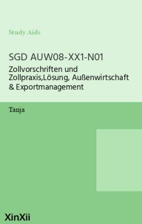 SGD AUW08-XX1-N01