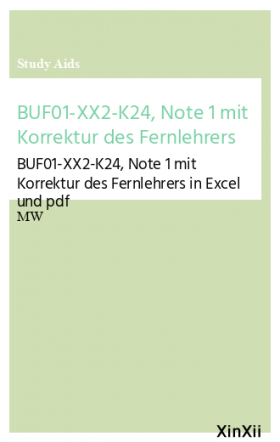 BUF01-XX2-K24, Note 1 mit Korrektur des Fernlehrers
