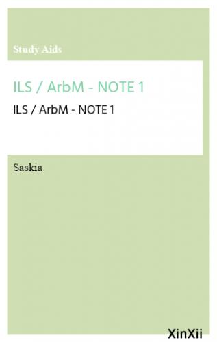 ILS / ArbM - NOTE 1