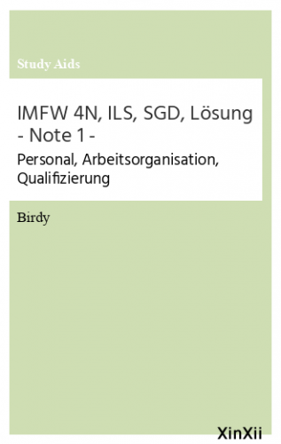 IMFW 4N, ILS, SGD, Lösung - Note 1 -