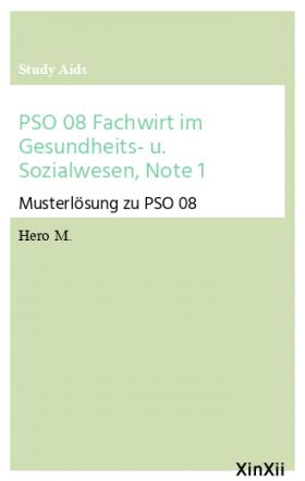 PSO 08 Fachwirt im Gesundheits- u. Sozialwesen, Note 1