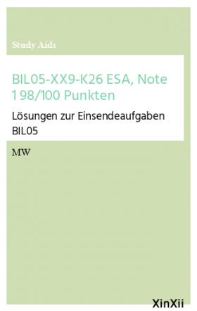BIL05-XX9-K26 ESA, Note 1 98/100 Punkten