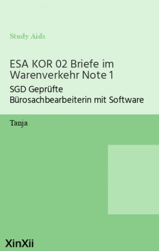 ESA KOR 02 Briefe im Warenverkehr Note 1