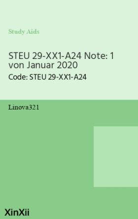 STEU 29-XX1-A24 Note: 1 von Januar 2020