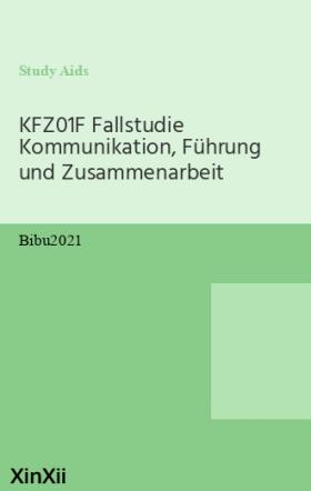 KFZ01F Fallstudie Kommunikation, Führung und Zusammenarbeit