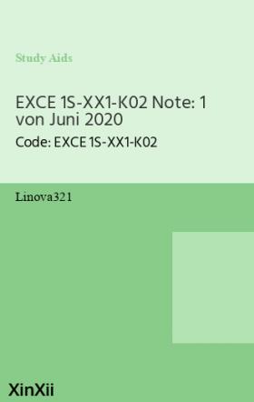 EXCE 1S-XX1-K02 Note: 1 von Juni 2020