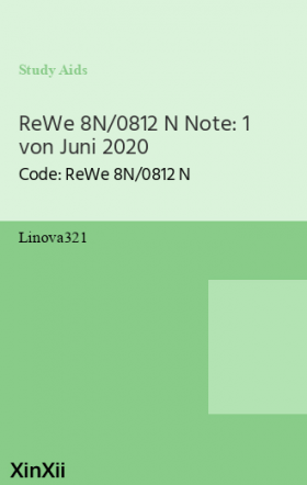 ReWe 8N/0812 N Note: 1 von Juni 2020