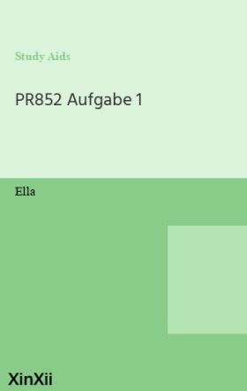 PR852 Aufgabe 1