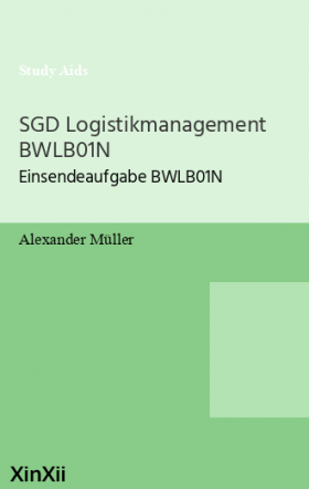 SGD Logistikmanagement BWLB01N