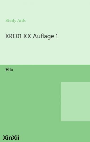 KRE01 XX Auflage 1