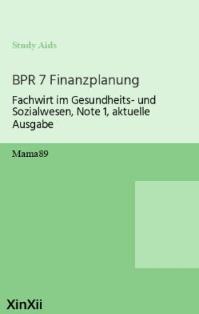 BPR 7 Finanzplanung