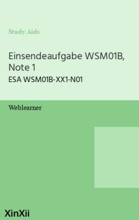 Einsendeaufgabe WSM01B, Note 1