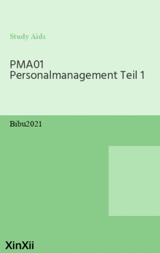 PMA01 Personalmanagement Teil 1